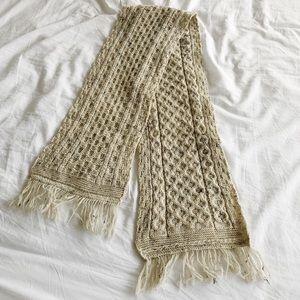 Aran Crafts 100% Wool Fringe Scarf